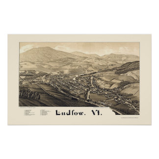 Ludlow, VT Panoramic Map - 1885 Posters