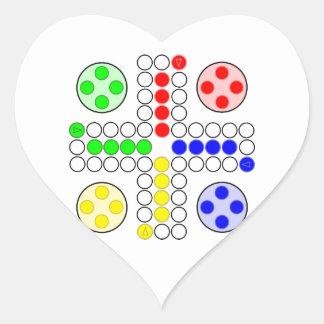 Ludo Classic Board Game Heart Sticker