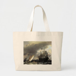 Ludolf Bakhuizen Dutch Vessels on a Stormy Sea Bag