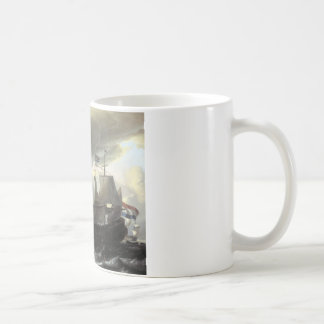 Ludolf Bakhuizen Dutch Vessels on a Stormy Sea Coffee Mug