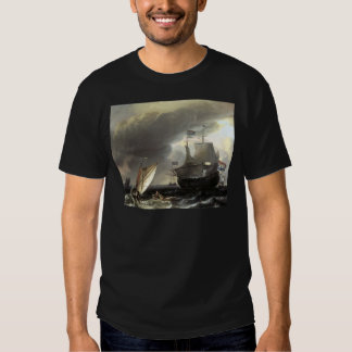 Ludolf Bakhuizen Dutch Vessels on a Stormy Sea T-Shirt