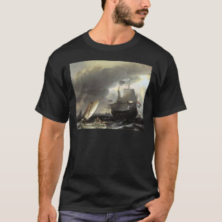 Ludolf Bakhuizen Dutch Vessels on a Stormy Sea T-Shirt