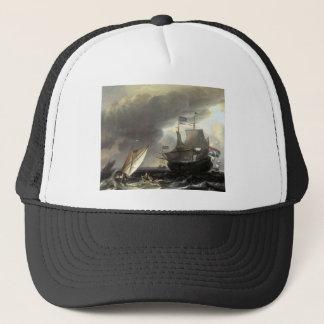 Ludolf Bakhuizen Dutch Vessels on a Stormy Sea Trucker Hat
