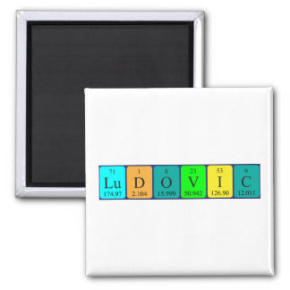 Ludovic periodic table name magnet