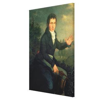 Ludvig van Beethoven , 1804 Canvas Print