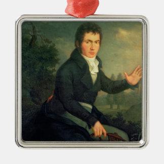 Ludvig van Beethoven, 1804 Adorno Cuadrado Plateado