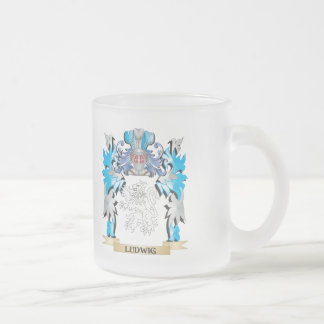 Ludwig Coat of Arms - Family Crest 10 Oz Frosted Glass Coffee Mug