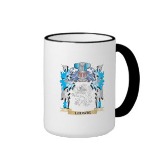 Ludwig Coat of Arms - Family Crest Ringer Coffee Mug