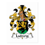 Ludwig Family Crest Postcard