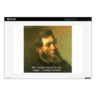 "Ludwig Feurbach & Man Created God Quote 15"" Laptop Skin"
