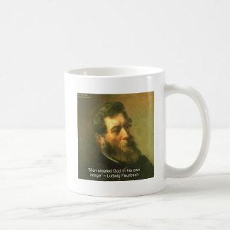 Ludwig Feurbach & Man Created God Quote Coffee Mug