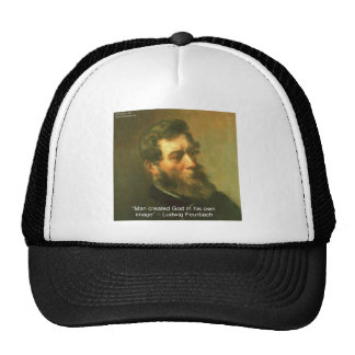 Ludwig Feurbach & Man Created God Quote Trucker Hat