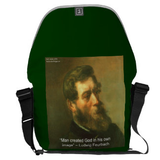Ludwig Feurbach & Man/God Quote Messenger Bag