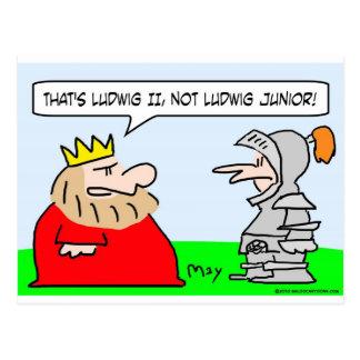 ludwig ii junior king knight postcard