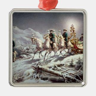 Ludwig II  of Bavaria Sleighing at Night Metal Ornament