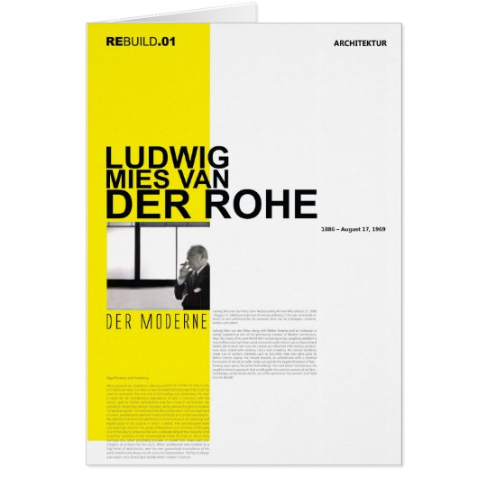 Ludwig Mies Van Der Rohe Card