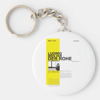 Ludwig Mies Van Der Rohe Keychain