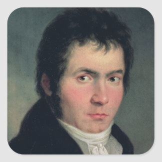 Ludwig van Beethoven , 1804 Square Stickers