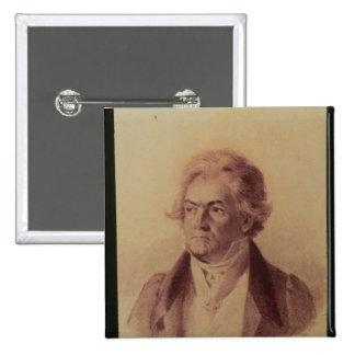 Ludwig van Beethoven, 1824 Pin Cuadrada 5 Cm