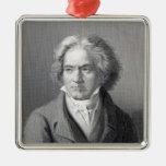 Ludwig van Beethoven Adorno Navideño Cuadrado De Metal