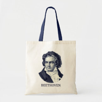 Ludwig van Beethoven azul Bolsa De Mano