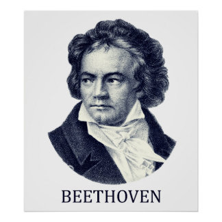 Ludwig van Beethoven azul Posters