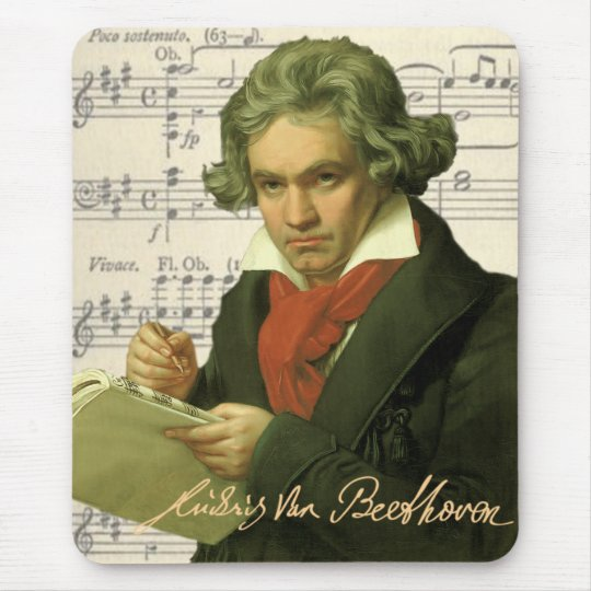 Ludwig Van Beethoven ~ Beethoven Collage Mouse Pad