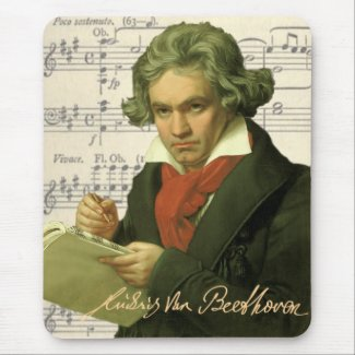 Ludwig Van Beethoven ~ Beethoven Collage mousepad