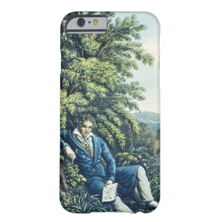 Ludwig van Beethoven by a River (coloured engravin Barely There iPhone 6 Case