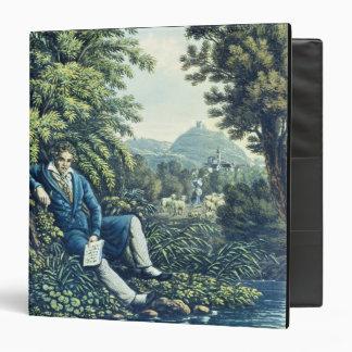 Ludwig van Beethoven by a River (coloured engravin Binders