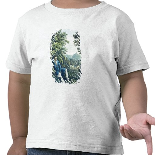 Ludwig van Beethoven by a River (coloured engravin Tee Shirt