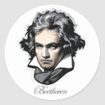 Ludwig van Beethoven Classic Round Sticker