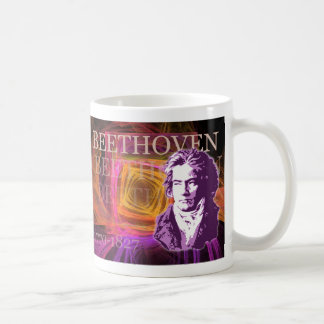 Ludwig van Beethoven Classical Composer Portrait Classic White Coffee Mug