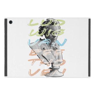 Ludwig van Beethoven en el diseño de neón de la iPad Mini Protectores