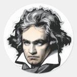 Ludwig van Beethoven Etiqueta Redonda