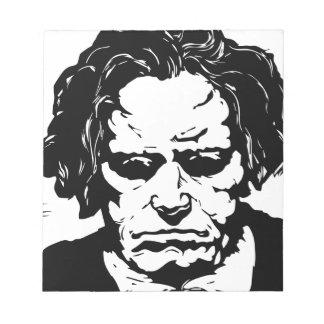 Ludwig van Beethoven - famous German composer Notepad