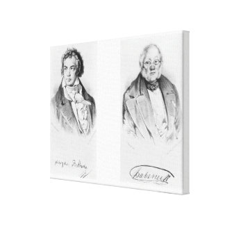 Ludwig van Beethoven & Francois-Antoine Habeneck Canvas Print