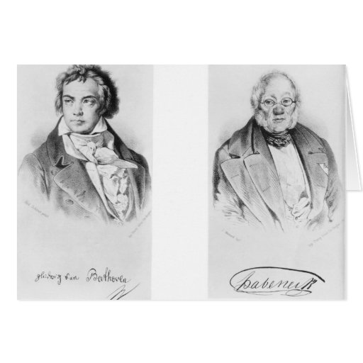 Ludwig van Beethoven & Francois-Antoine Habeneck Greeting Cards