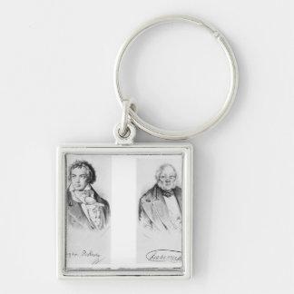 Ludwig van Beethoven & Francois-Antoine Habeneck Keychain