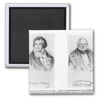 Ludwig van Beethoven & Francois-Antoine Habeneck Refrigerator Magnet