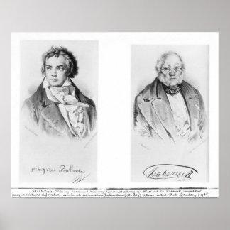 Ludwig van Beethoven & Francois-Antoine Habeneck Poster