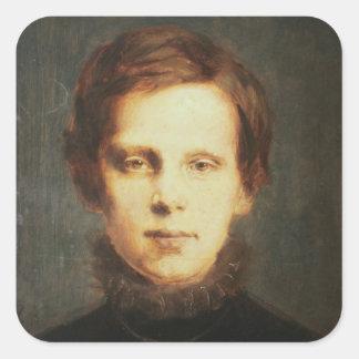Ludwig van Beethoven , German composer Square Sticker