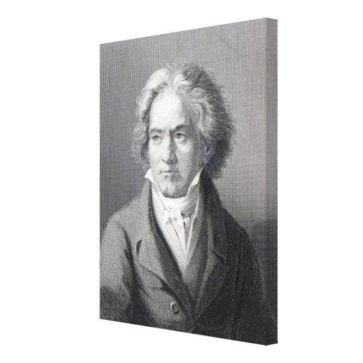 Ludwig van Beethoven Impresión En Lienzo Estirada