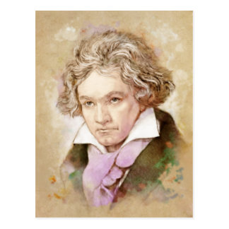Ludwig van Beethoven in the water color style Postcard