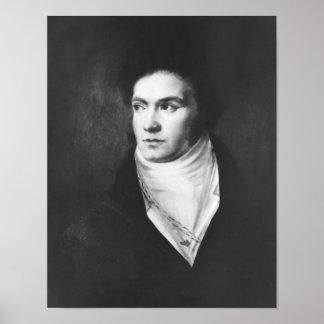 Ludwig van Beethoven joven 1806 Póster