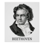 Ludwig van Beethoven, negro Posters
