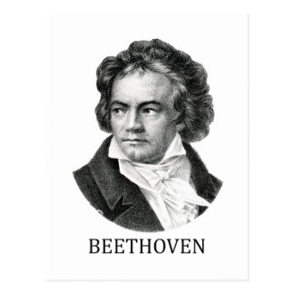 Ludwig van Beethoven negro Tarjeta Postal