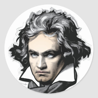 Ludwig van Beethoven Pegatina Redonda