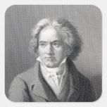 Ludwig van Beethoven Pegatina Cuadrada