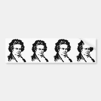 Ludwig van Beethoven Pegatina Para Auto